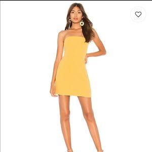 NWT lovers + friends Kiko mini  dress in honey